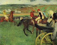 Edgar Degas The Race Track; Amateur Jockeys near a Carriage