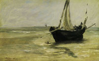 Edouard Manet Black Boat near Berck