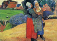 Paul Gauguin Breton Peasants