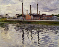 Gustave Caillebotte Factories at Argenteuil