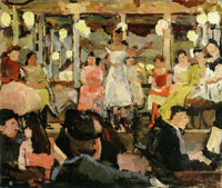 Isaac Israels Café-chantant at the Nes in Amsterdam