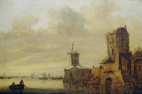 Jan van Goyen River View with a Mill