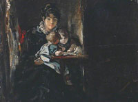 John Constable Maria Constable with Two of her Children
