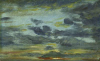 Attributed to John Constable Sky Study, Sunset