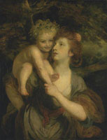 Joshua Reynolds - Mrs Hartley as a Nymph with a Young Bacchus