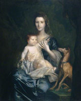 Joshua Reynolds Jane Hamilton, Wife of 9th Lord Cathcart, and Her Daughter Jane, Later Duchess of Atholl