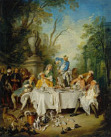 Nicolas Lancret Luncheon Party in a Park
