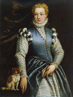 Paolo Veronese Portrait of a Woman with a Dog