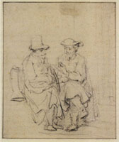 Rembrandt Two Men in Conversation