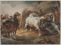 Théodore Géricault Fighting Horses