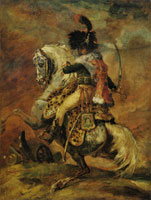 Théodore Géricault An Officer of the Imperial Horse Guards Charging (The Charging Chasseur)