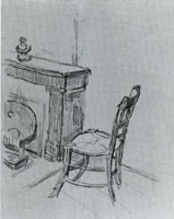 Vincent van Gogh Mantelpiece with Chair