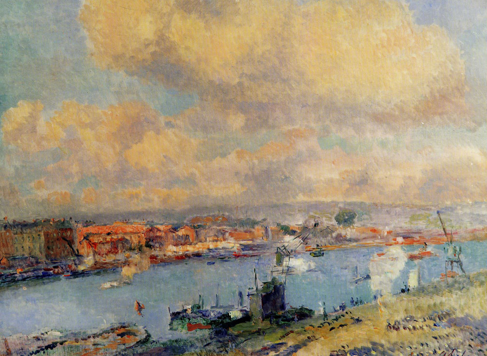 Albert Lebourg - The Seine and the Left Bank of Rouen