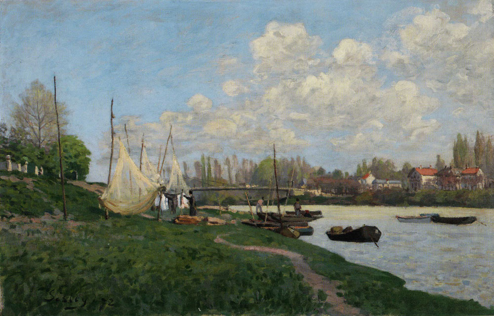 Alfred Sisley - Drying Nets