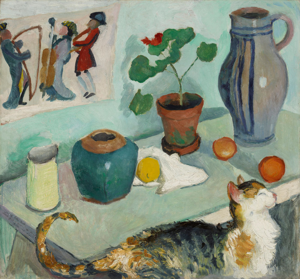 August Macke - Still Life with Cat
