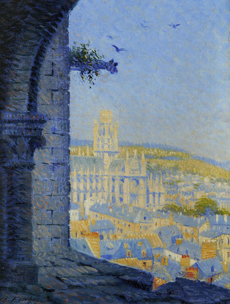 Charles Frechon - Rouen, Saint-Ouen Abbey Church Seen from the Cathedral