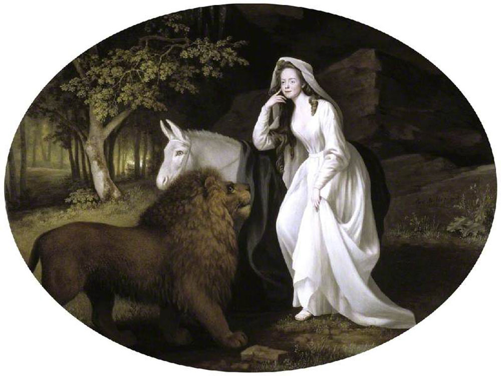 George Stubbs - Isabella Salstonstall as Una in Spenser's 'Faerie Queene'
