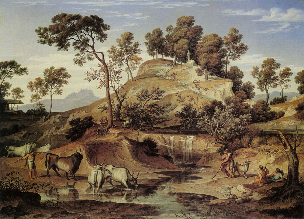 Joseph Anton Koch - Landscape with Cattle