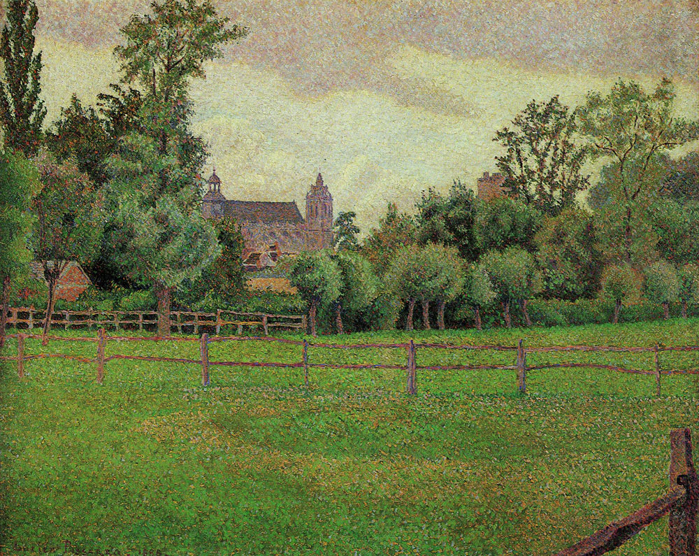 Lucien Pissarro - The Church at Gisors