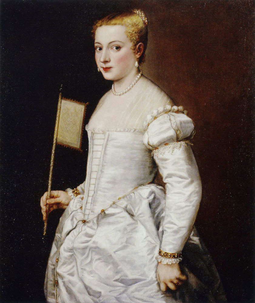 Titian - Portrait of a Lady in White