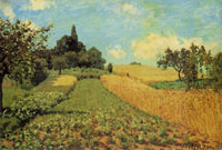 Alfred Sisley Cornfield near Argenteuil