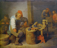 David Ryckaert III A Shoemaker with His Pupils