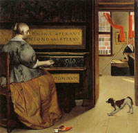 Gabriel Metsu Lady at a Virginal