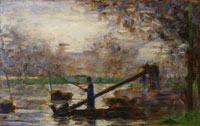 Georges Seurat Fisherman in a Moored Boat