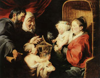 Jacob Jordaens The Virgin and Child with Saint John and His Parents