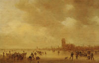 Jan van Goyen Winter Scene at Dordrecht