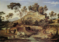 Joseph Anton Koch Landscape with Cattle