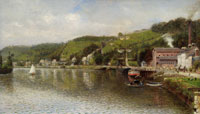 Leon Jules Lemaitre The Seine at Croisset