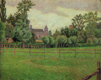 Lucien Pissarro The Church at Gisors