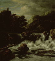 Jacob van Ruisdael - Mountainous Landscape with a Waterfall