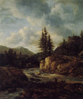 Jacob van Ruisdael Northern Landscape with a Torrent