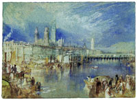 J.M.W. Turner Rouen Looking Upstream