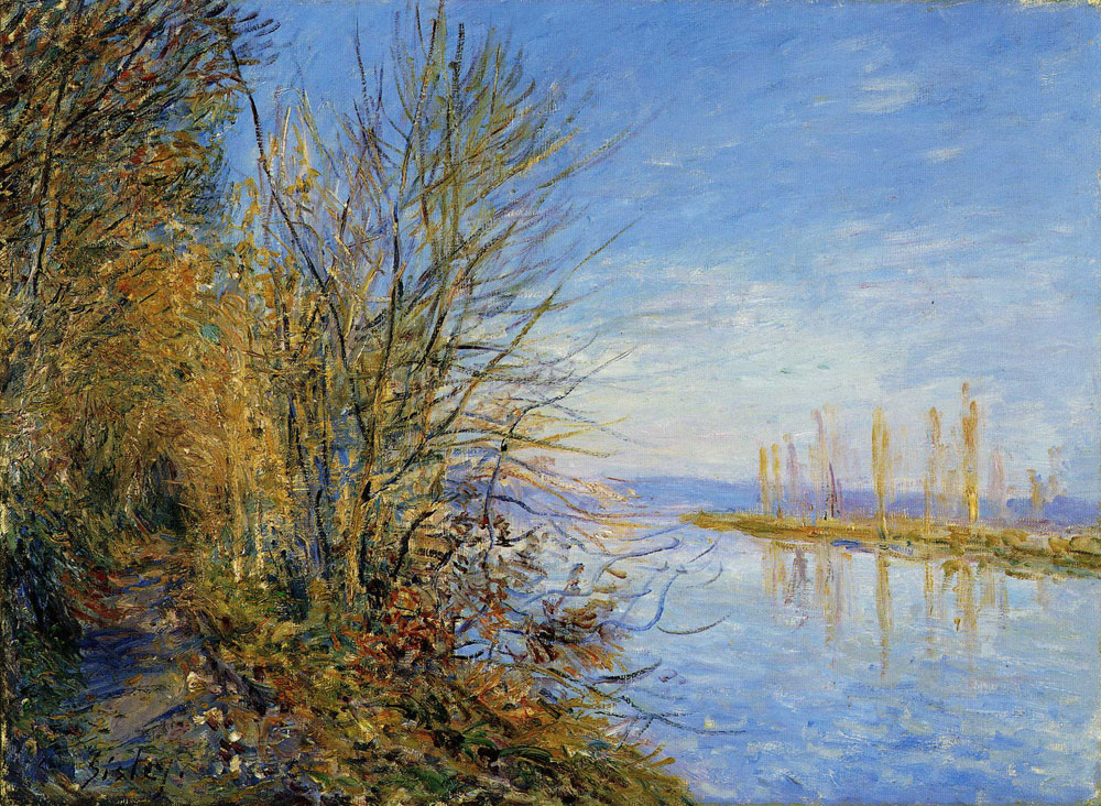 Alfred Sisley - The By Road at the Roches-Courtaut Woods-Indian Summer