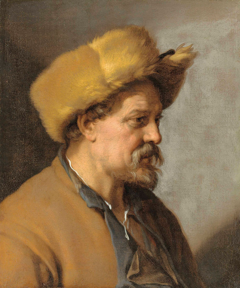 Attributed to Abraham Bloemaert - A man in a fur hat