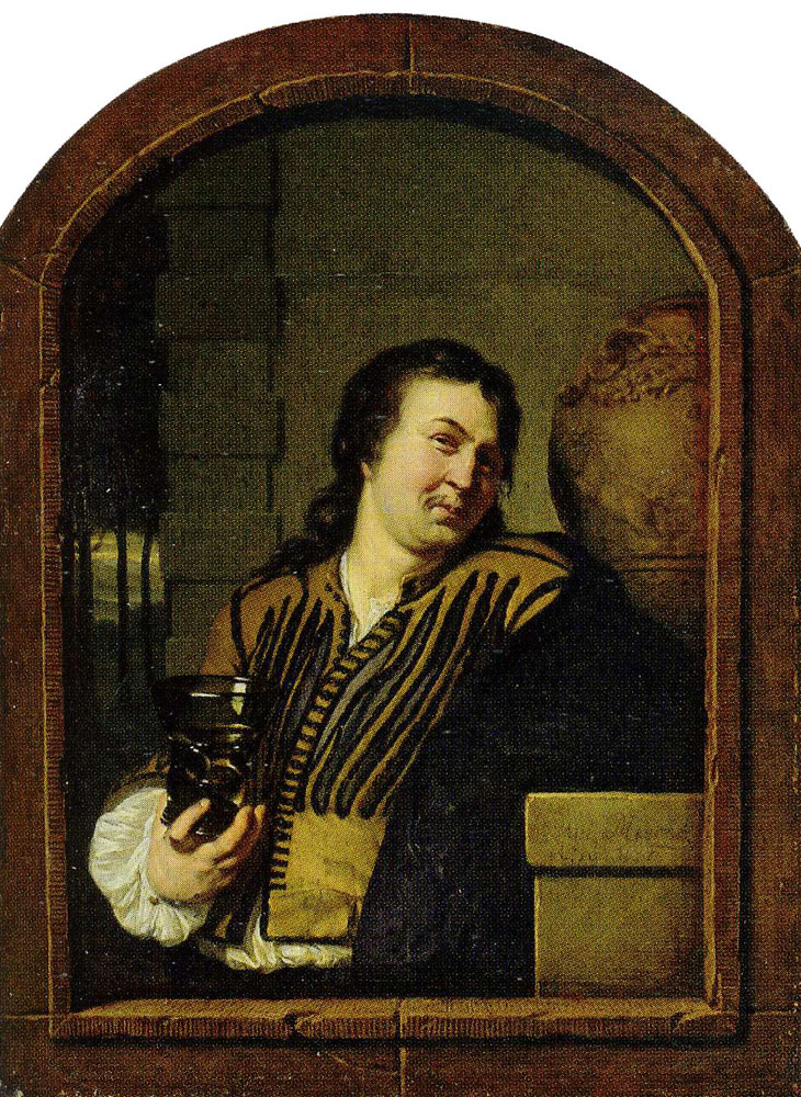 Frans van Mieris the Elder - A Merry Drinker