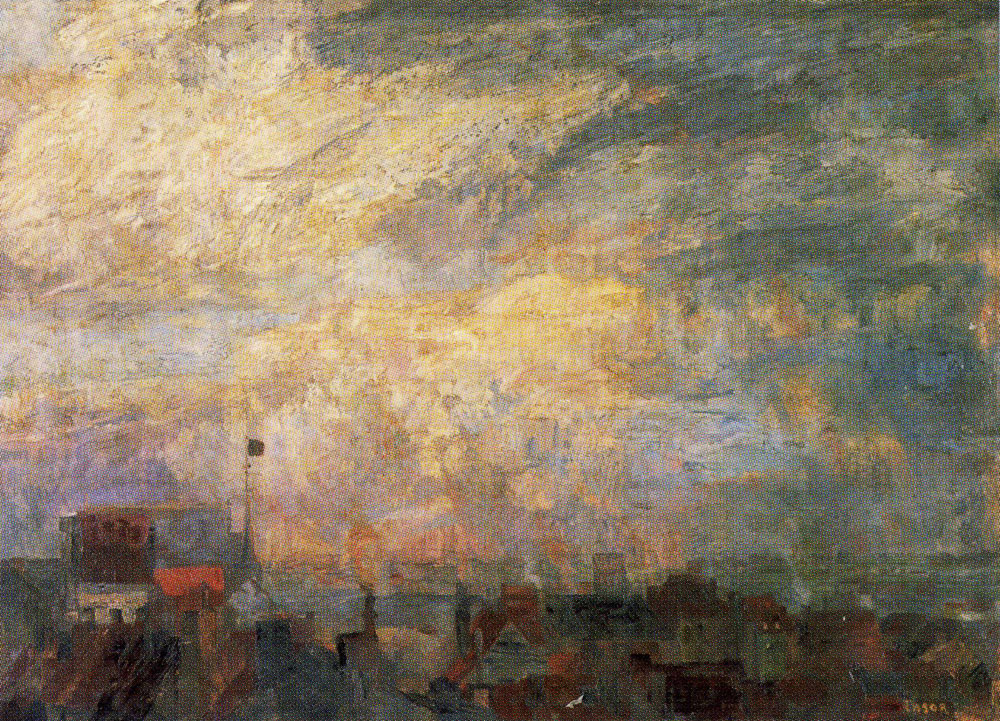 James Ensor - Large View of Ostend