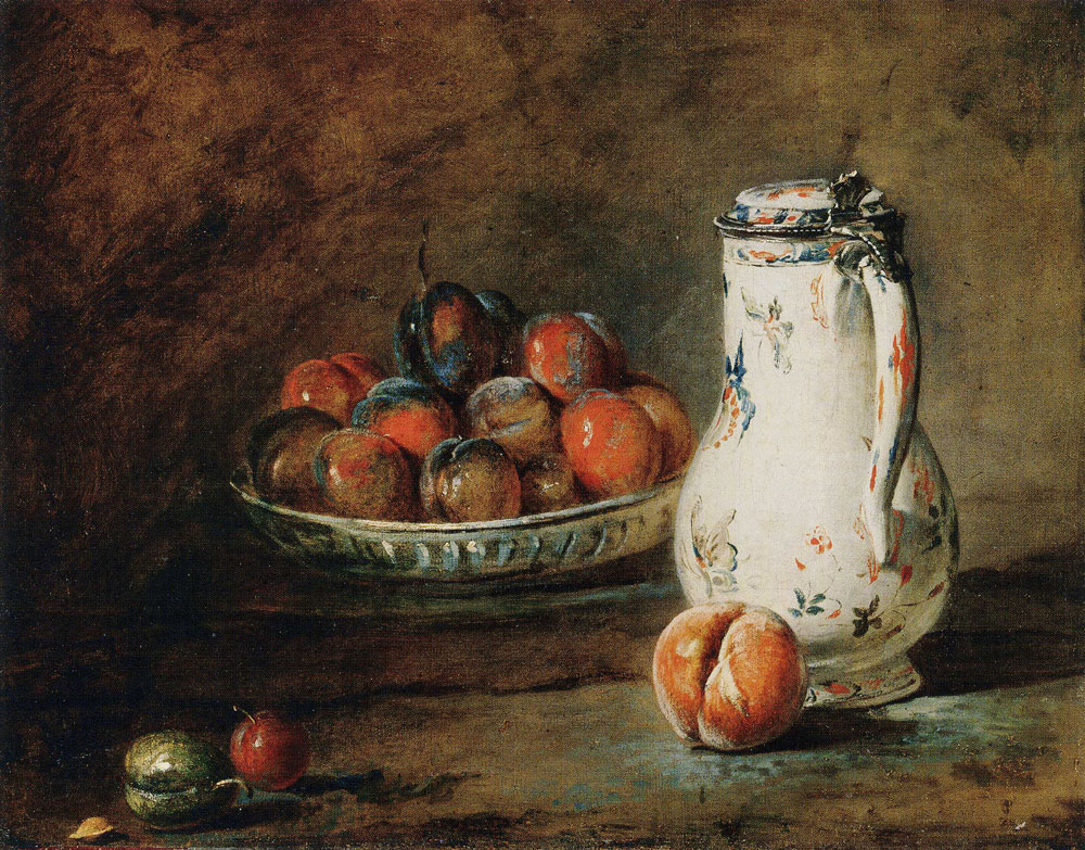 Jean-Siméon Chardin - A Bowl of Plums