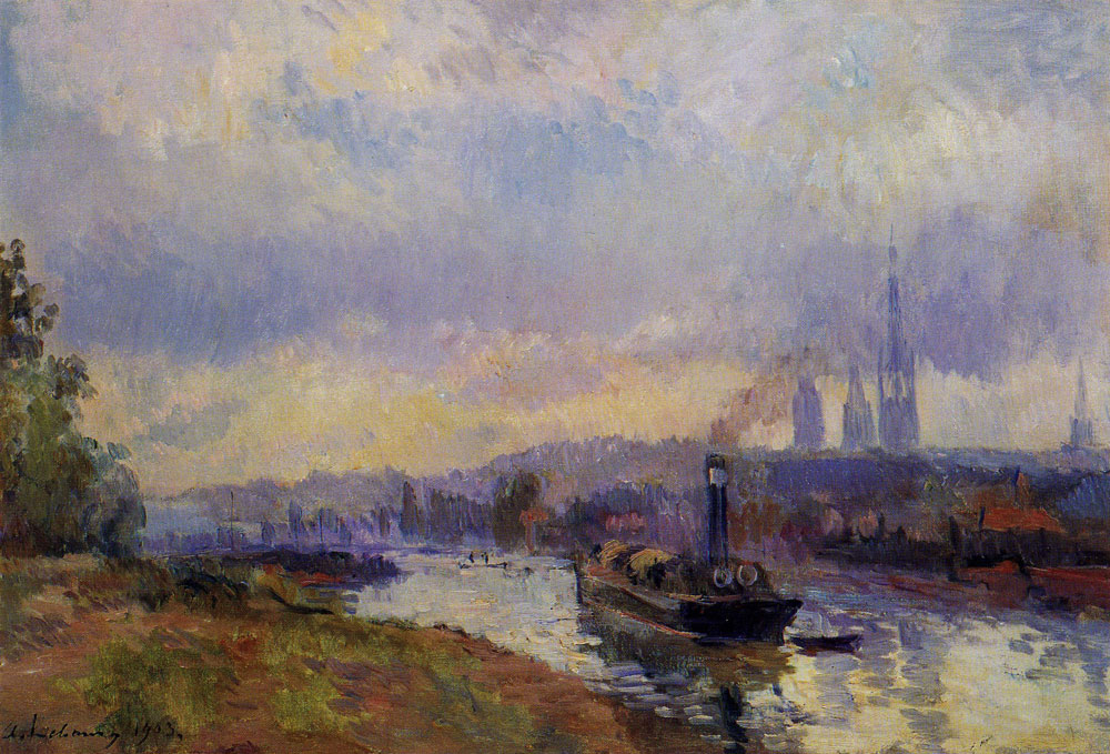 Albert Lebourg - Two Boats at Rouen