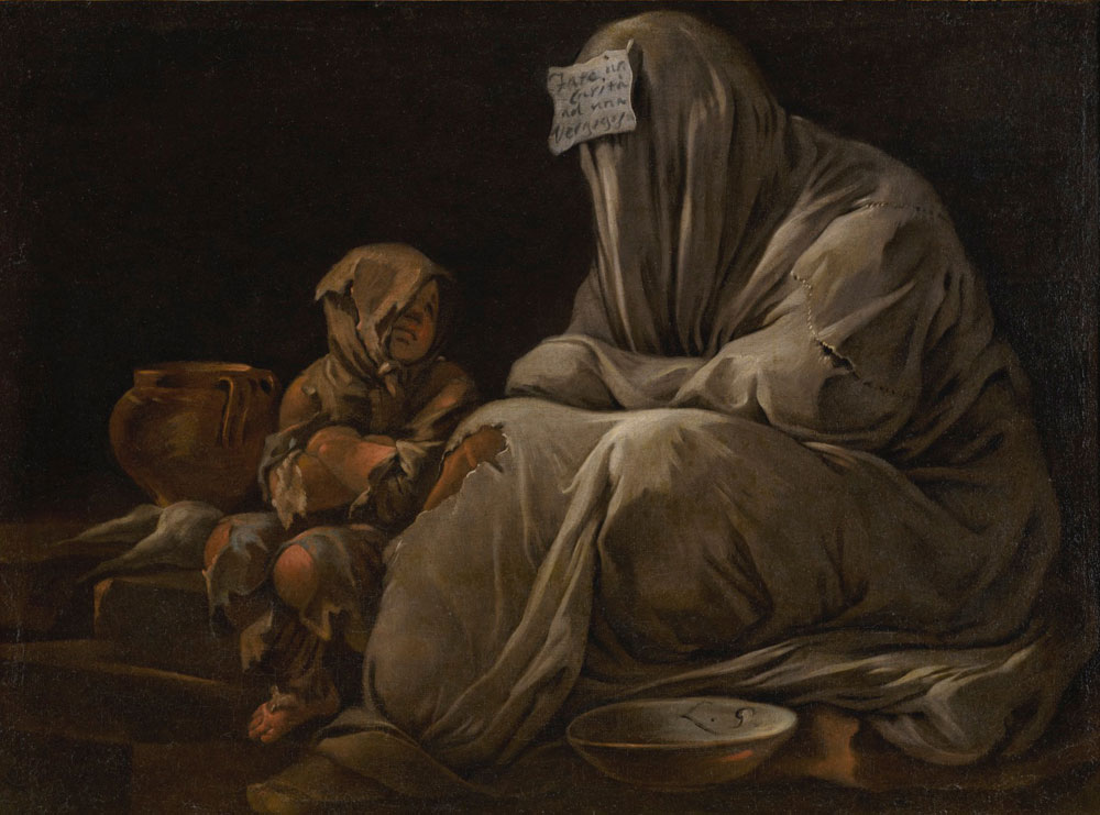 Luca Giordano - A Beggar Wrapped in Blankets