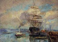 Albert Lebourg In the Port of Rouen
