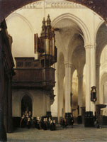 Johannes Bosboom The Interior of the Nieuwe Kerk in Amsterdam