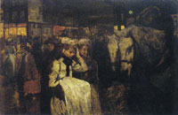 George Hendrik Breitner - Dam Square at Night