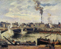 Camille Pissarro - Pont Boieldieu and the District of Saint Sever, Rouen