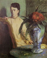 Edgar Degas Woman with Porcelain Vase