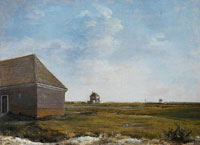George Stubbs - Newmarket Heath, with a Rubbing-Down House