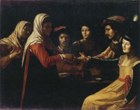 Copy after Gerard van Honthorst The Fortune Teller